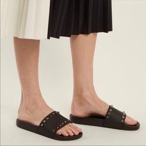 NEW VALENTINO GARAVANI Rockstud Slide Sandal
